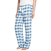 Concepts Sport Women's North Carolina Tar Heels Carolina Blue/Navy Piedmont Flannel Sleep Pants