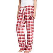 Concepts Sport Women's Indiana Hoosiers Crimson/Grey Piedmont Flannel Sleep Pants