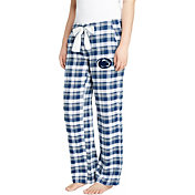 Concepts Sport Women's Penn State Nittany Lions Blue/Grey Piedmont Flannel Sleep Pants