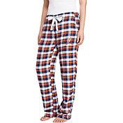 Concepts Sport Women's Virginia Cavaliers Blue/Orange Piedmont Flannel Sleep Pants