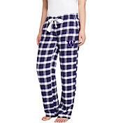 Concepts Sport Women's Washington Huskies Purple/Black Piedmont Flannel Sleep Pants