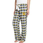 Concepts Sport Women's West Virginia Mountaineers Blue/Gold Piedmont Flannel Sleep Pants