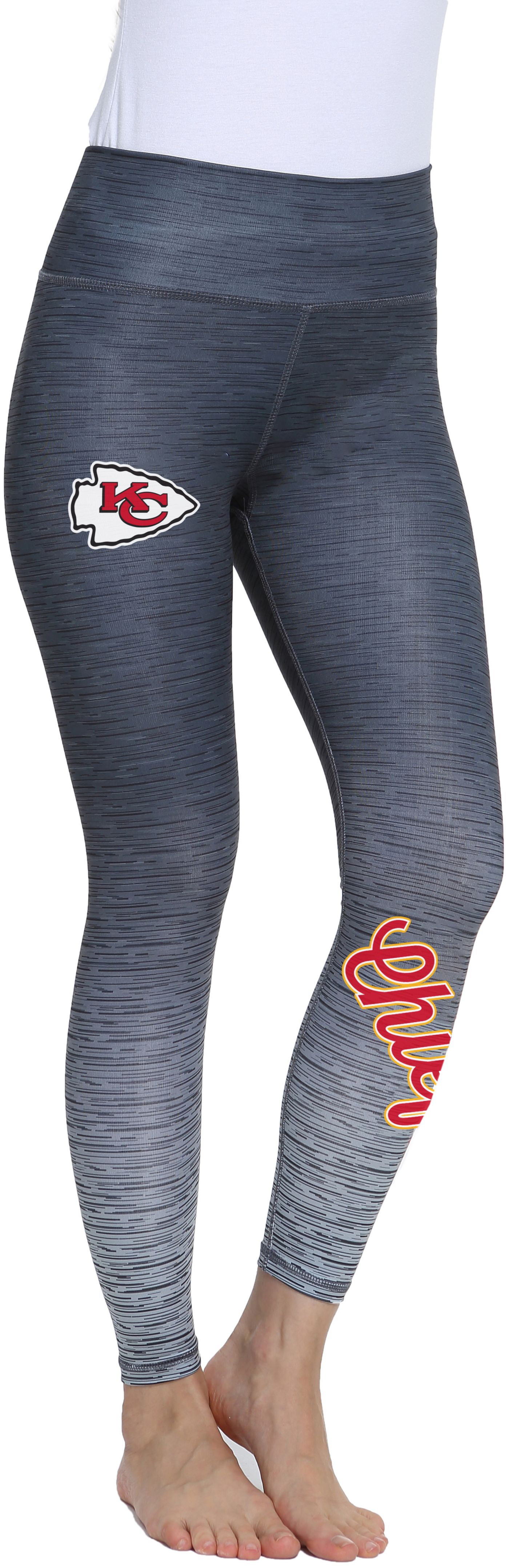 Concepts Sport Women's Kansas City Chiefs Flyaway Charcoal Leggings