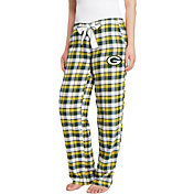 Concepts Sport Women's Green Bay Packers Piedmont Flannel Pants