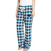 Concepts Sport Women's Carolina Panthers Piedmont Flannel Pants