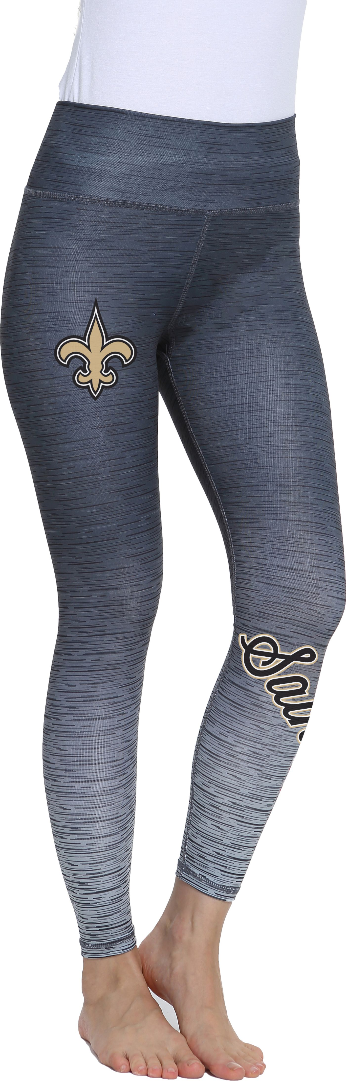 Concepts Sport Women's New Orleans Saints Flyaway Charcoal Leggings