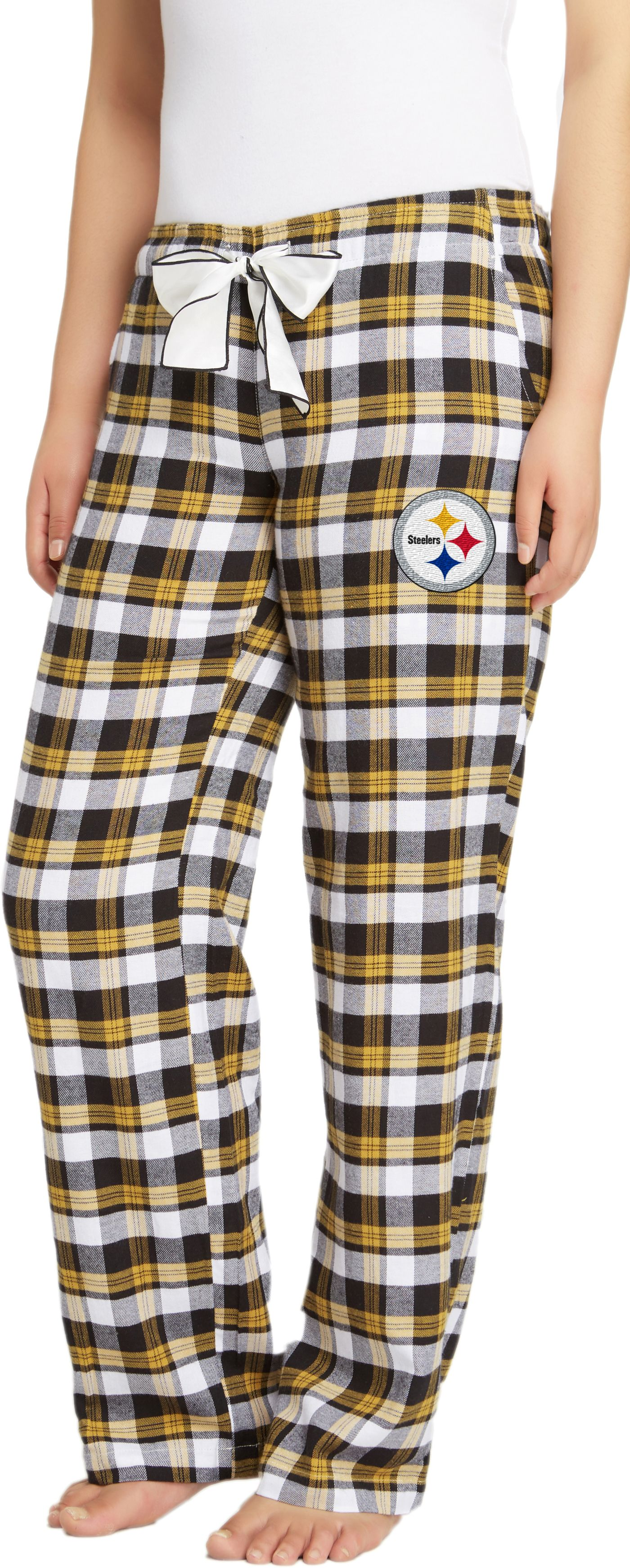 Concepts Sport Women's Pittsburgh Steelers Piedmont Flannel Pants