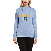 Concepts Sport Women's St. Louis Blues Marble Royal Heathered Pullover Hoodie