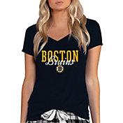 Concepts Sport Women's Boston Bruins Knit Black V-Neck T-Shirt