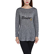 Concepts Sport Women's Boston Bruins Marble Heather Grey Long Sleeve Shirt