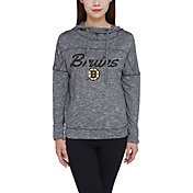 Concepts Sport Women's Boston Bruins Marble Heather Grey Hooded Long Sleeve Shirt