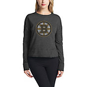 Concepts Sport Women's Boston Bruins Surge Heather Grey Crew Neck Sweatshirt