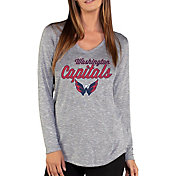 Concepts Sport Women's Washington Capitals Layover Heather Grey Long Sleeve Shirt
