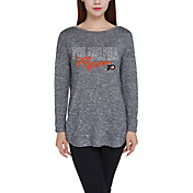 Concepts Sport Women's Philadelphia Flyers Marble Heather Grey Long Sleeve Shirt