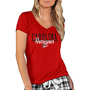 Concepts Sport Women's Carolina Hurricanes Knit Red V-Neck T-Shirt