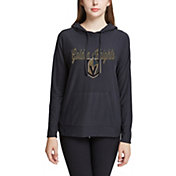 Concepts Sport Women's Vegas Golden Knights Fairway Black Pullover Sweatshirt