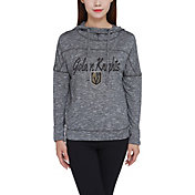 Concepts Sport Women's Vegas Golden Knights Marble Heather Grey Hooded Long Sleeve Shirt