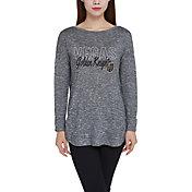 Concepts Sport Women's Vegas Golden Knights Marble Heather Grey Long Sleeve Shirt