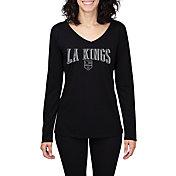 Concepts Sport Women's Los Angeles Kings Marathon Black Long Sleeve Shirt