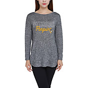 Concepts Sport Women's Pittsburgh Penguins Marble Heather Grey Long Sleeve Shirt