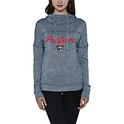 Concepts Sport Women's Florida Panthers Marble Navy Heathered Pullover Hoodie