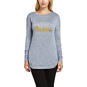 Concepts Sport Women's Nashville Predators Marble Navy Heathered Long Sleeve Shirt