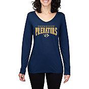 Concepts Sport Women's Nashville Predators Marathon Navy Long Sleeve Shirt