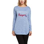 Concepts Sport Women's New York Rangers Marble Royal Heathered Long Sleeve Shirt