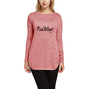 Concepts Sport Women's Detroit Red Wings Marble Red Heathered Long Sleeve Shirt
