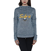 Concepts Sport Women's Buffalo Sabres Marble Navy Heathered Pullover Hoodie