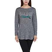 Concepts Sport Women's San Jose Sharks Marble Heather Grey Long Sleeve Shirt