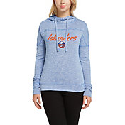 Concepts Sport Women's New York Islanders Marble Royal Heathered Pullover Hoodie