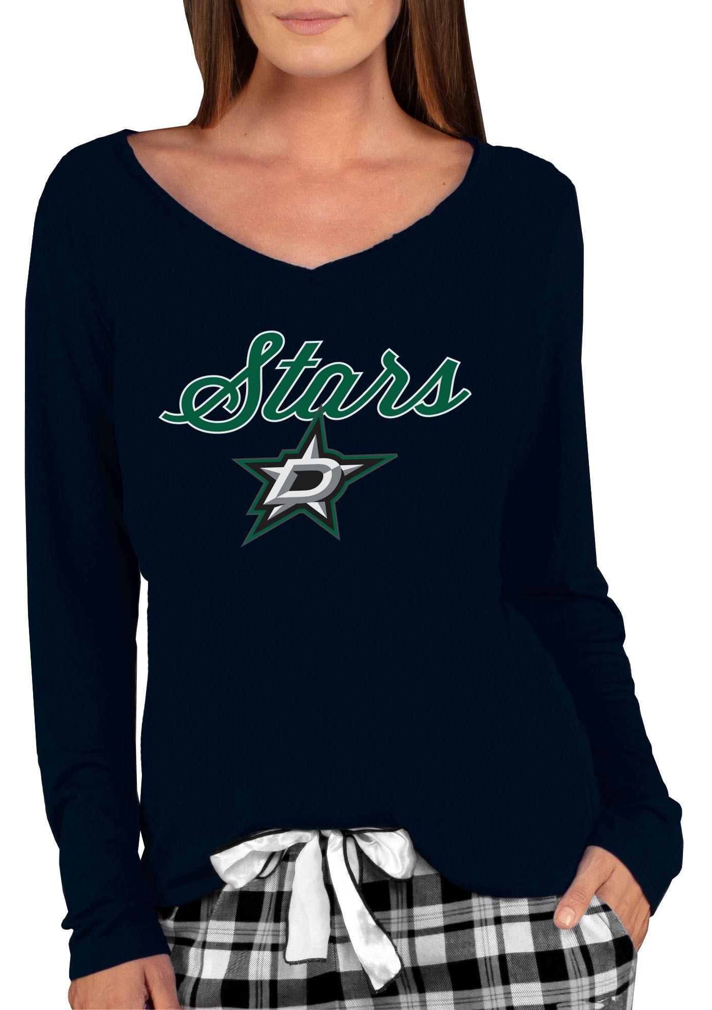 Concepts Sport Women's Dallas Stars Knit Black V-Neck Long Sleeve T-Shirt