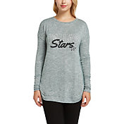 Concepts Sport Women's Dallas Stars Marble Green Heathered Long Sleeve Shirt