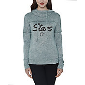 Concepts Sport Women's Dallas Stars Marble Green Heathered Hooded Long Sleeve Shirt