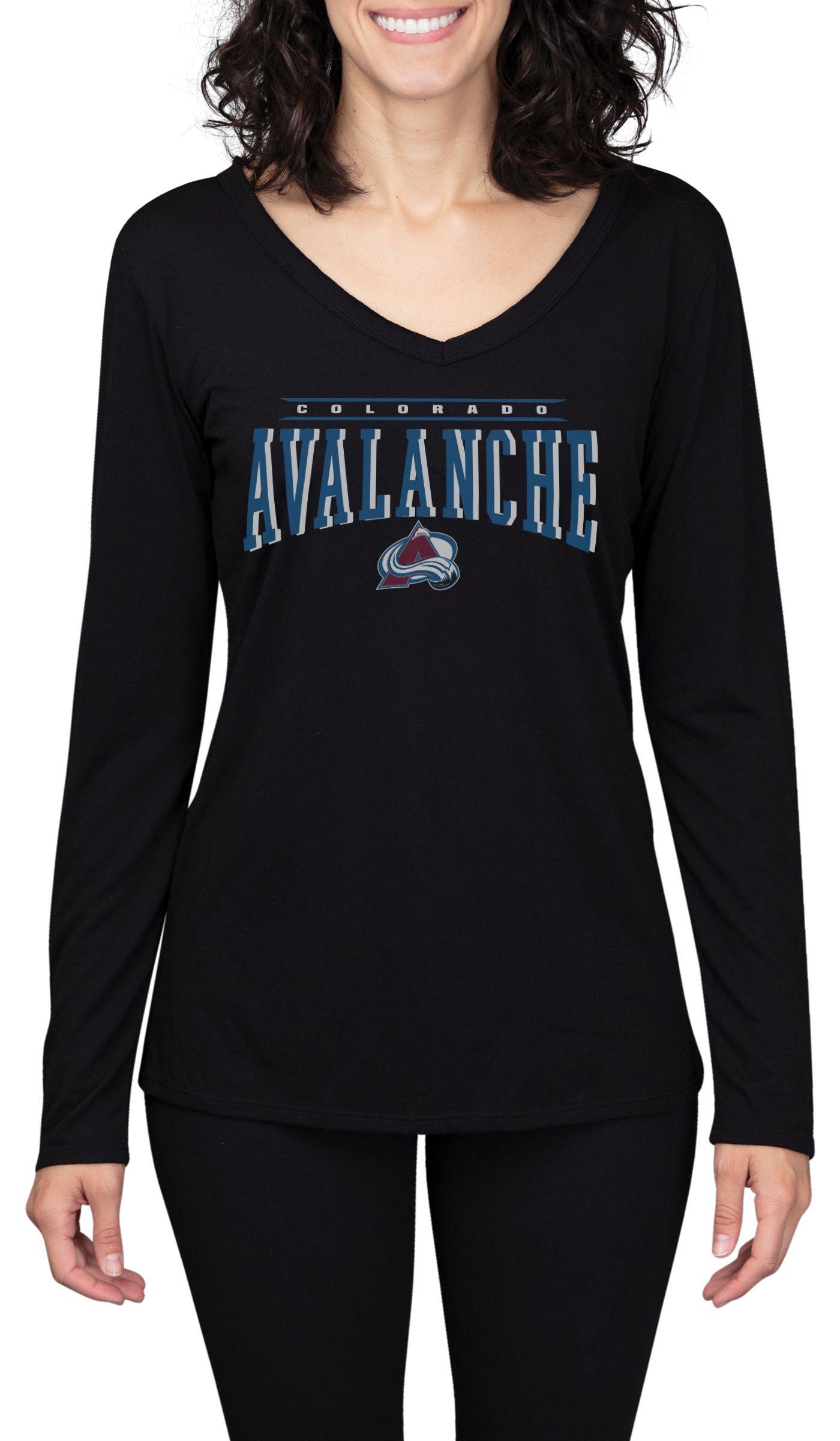Concepts Sport Women's Colorado Avalanche Marathon Black Long Sleeve Shirt
