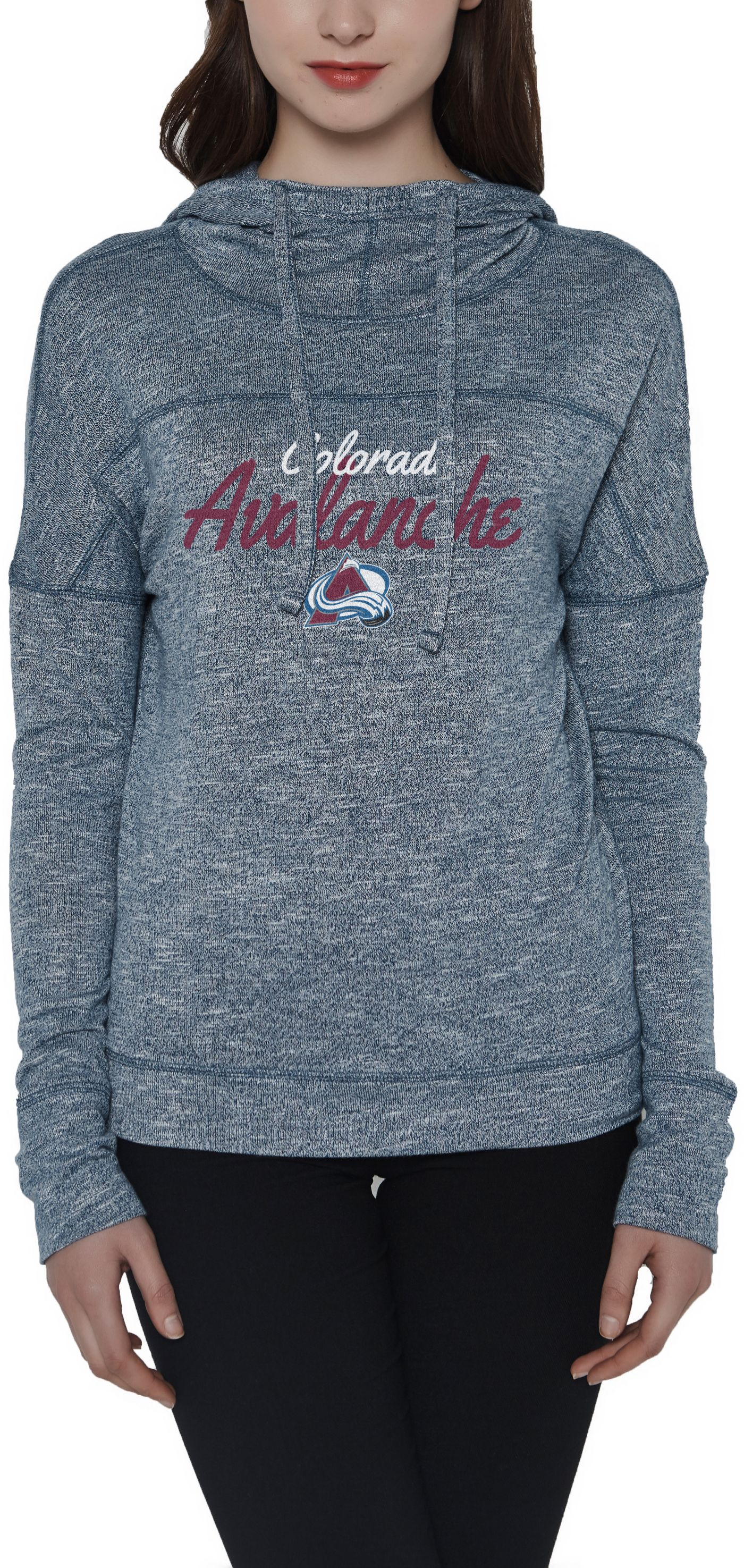 Concepts Sport Women's Colorado Avalanche Marble Navy Heathered Pullover Hoodie