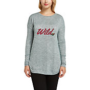 Concepts Sport Women's Minnesota Wild Marble Green Heathered Long Sleeve Shirt