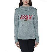 Concepts Sport Women's Minnesota Wild Marble Green Heathered Pullover Hoodie