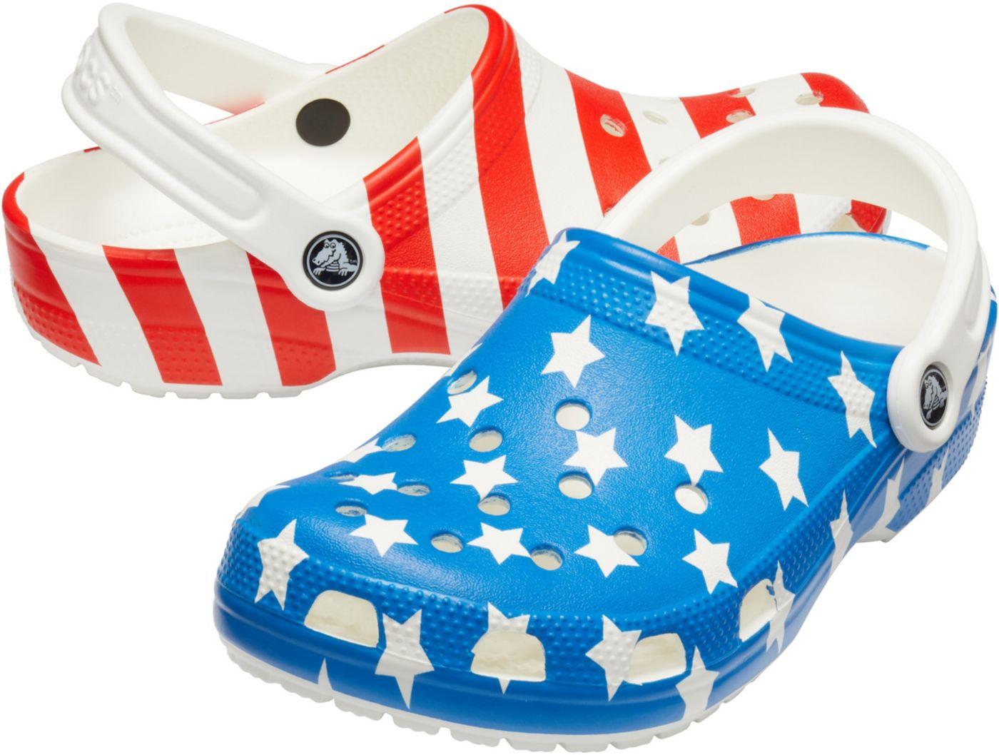 Crocs Adult Classic American Flag Clogs