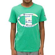 Champion Boys' C Logo With Script T-Shirt