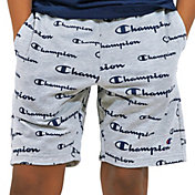 Champion Boys' French Terry Allover Print Script Shorts