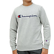 Champion Boy's Script Fleece Crewneck Sweatshirt