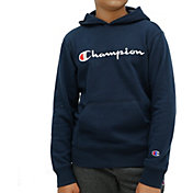 Champion Boy's Script Fleece Hoodie