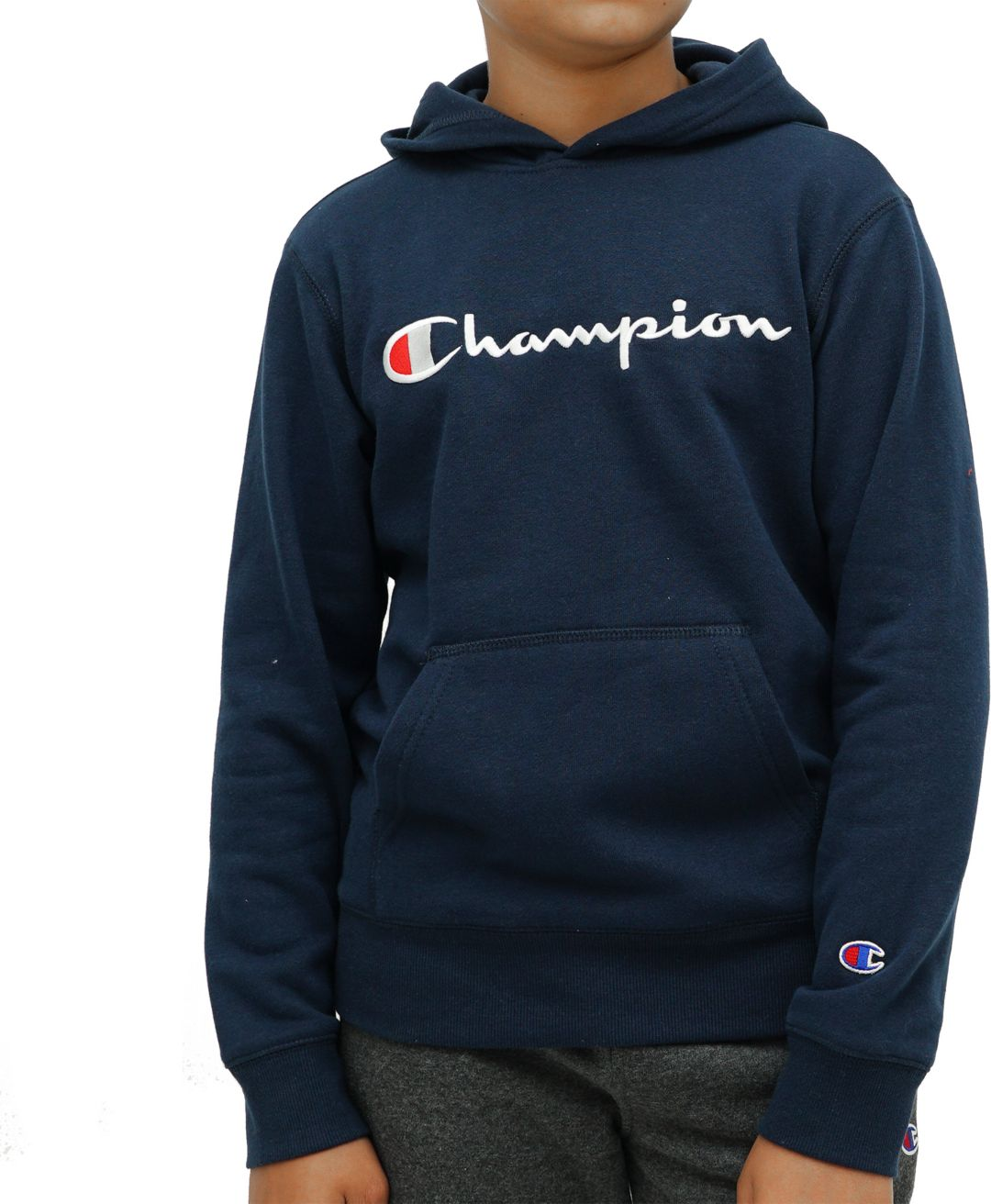 hvordan man køber los angeles 50% rabat Champion Boy's Script Fleece Hoodie