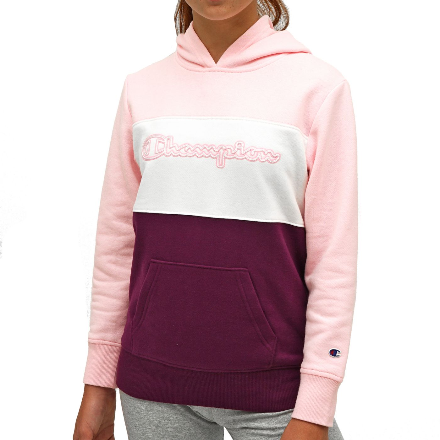 Champion Girl's Color Block Hoodie