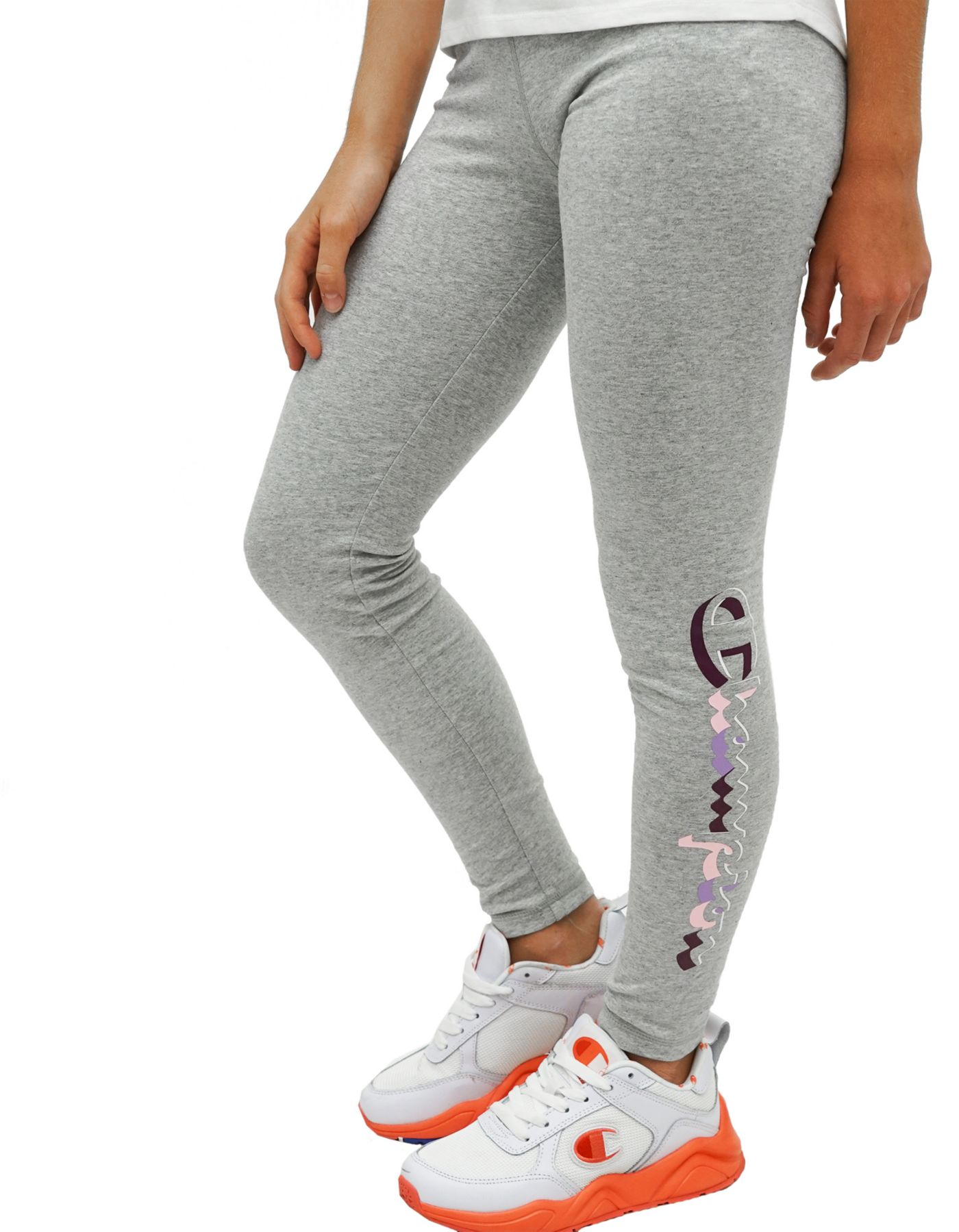Champion Girl's Retro Script Leggings