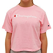 Champion Girls' Script Boxy T-Shirt