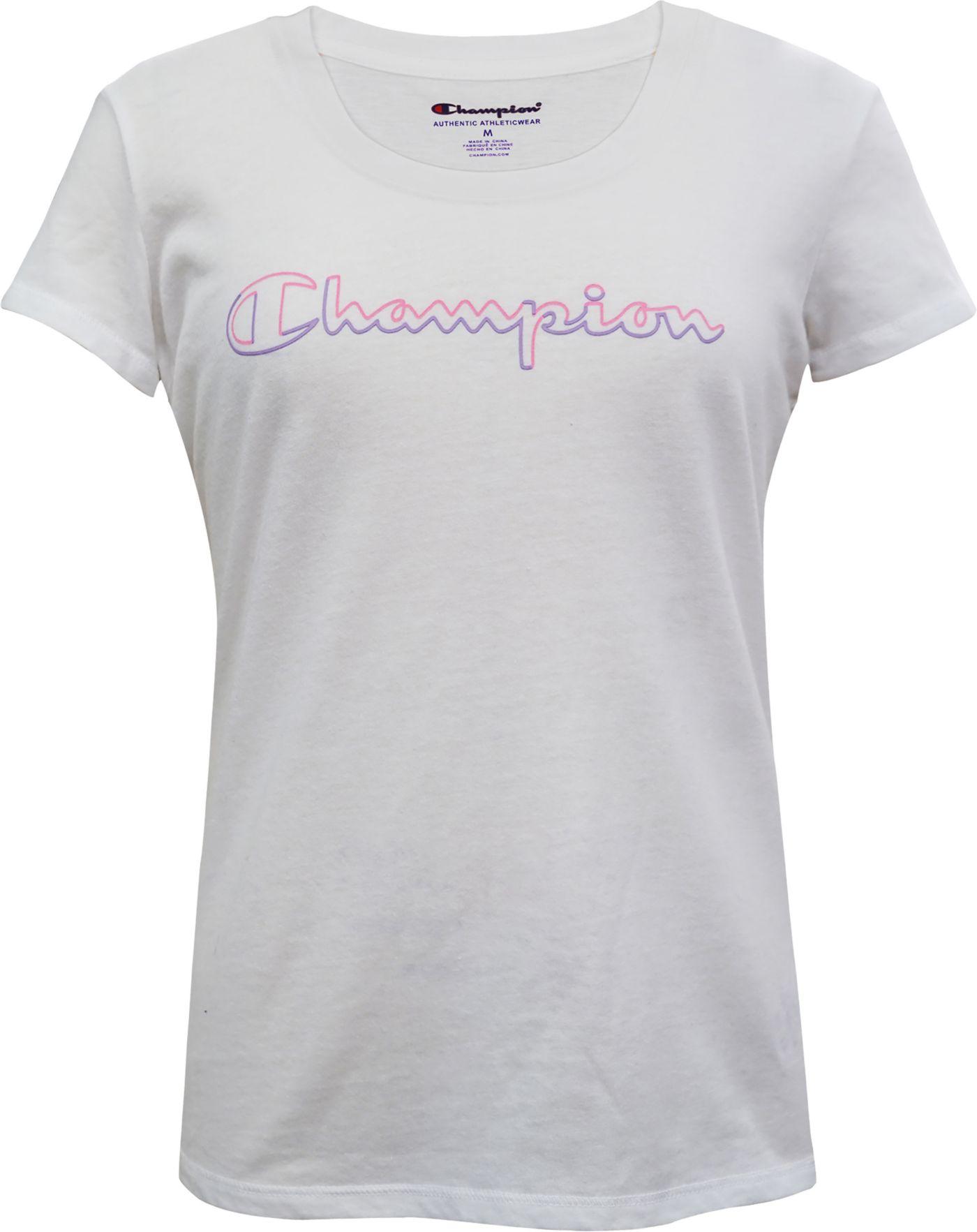 Champion Girls' Script Outline Graphic T-Shirt