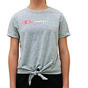 Champion Girls' Front Tie Hem T-Shirt